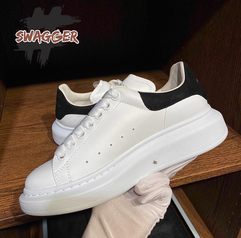 giày alexander mcqueen sneaker gót nhung đen like auth chuẩn 99.9% full box phụ kiện