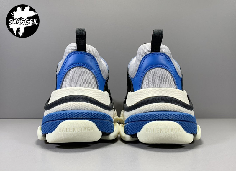 Giày Balenciaga Triple S Blue White Plus Y Factory chuẩn 99.9% full box và phụ kiện sử dụng chất liệu tương đương hãng