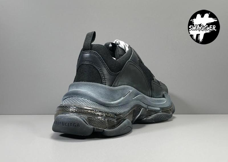 Giày Balenciaga Triple S Clear Full Black Plus Y factory chuẩn 99.9% full box phụ kiện sử dụng chất liệu tương đương hãng
