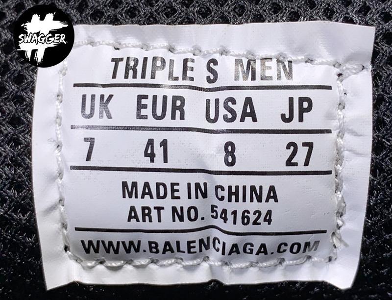 Giày Balenciaga Triple S Clear Black Blue Plus Y Factory chuẩn 99.9% full box và phụ kiện sử dụng chất liệu tương đương hãng