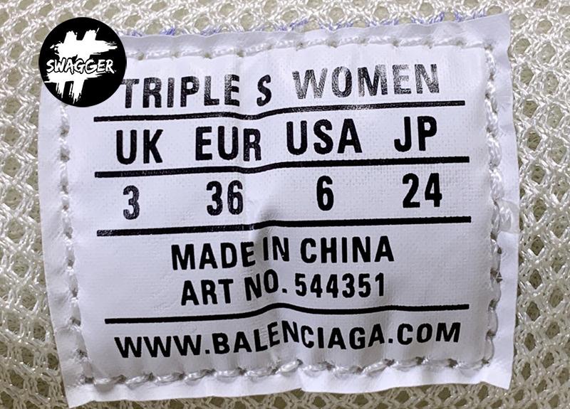 Giày Balenciaga Triple S Clear Off White Plus Y Factory chuẩn 99.9% full box và phụ kiện sử dụng chất liệu tương đương hãng
