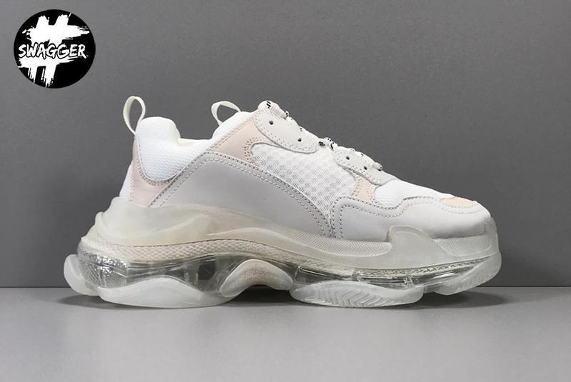 Giày Balenciaga Triple S Clear White Plus Y Factory chuẩn 99.9% full box và phụ kiện sử dụng chất liệu tương đương hãng
