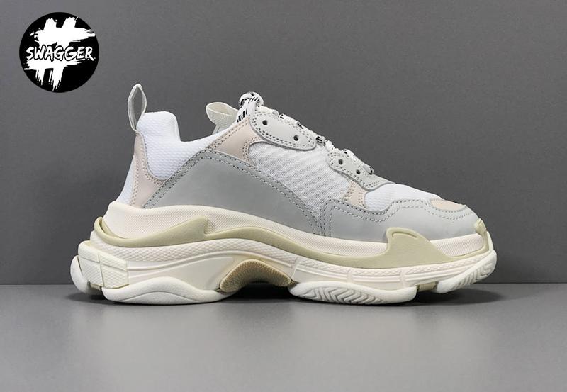 Giày Balenciaga Triple S white Plus Y Factory chuẩn 99.9% chất lườn tốt nhất hiện nay, full box và phụ kiện