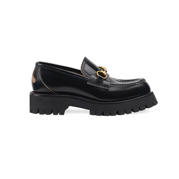 Giày Gucci Leather Lug Sole Loafers Like Auth
