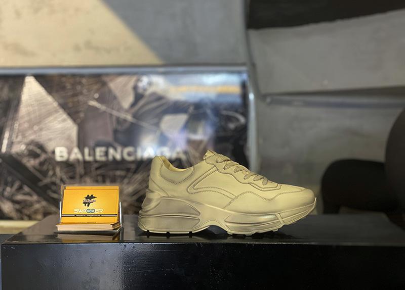 """Giày Gucci Rhyton Leather Sneaker """" Bẩn"""" Like Auth chất lượng tương đương chính hãng"""