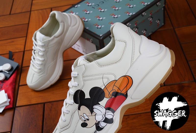 Giày Gucci Rhyton Mickey Mouse Like Auth chuẩn 99.9% full box và phụ kiện chất lương tương đương chính hãng