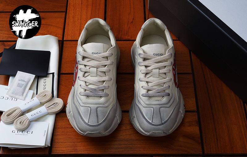 Giày Gucci Rhyton Mouth On Feet Like Auth chuẩn 99.9% chất lườn tương đương chính hãng full box và phụ kiện
