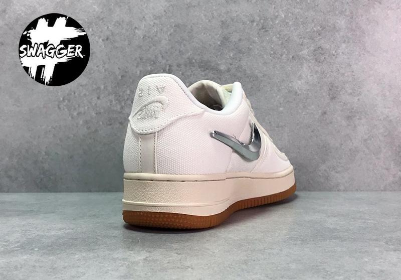 Nike Air Force 1 Travis Scott White Pk God Factory chuẩn tương đương chính hãng