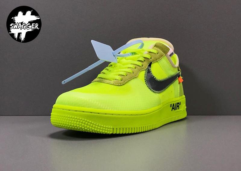 Giày Nike Air Force 1 Off White Volt Pk God Factory chuẩn 99.9% full box và phụ kiện, chất liệu tương đương với hãng