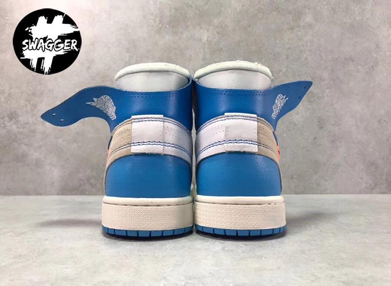Giày Nike Jordan 1 Off White Blue Pk God Factory chuẩn 99.9% full box và phụ kiện bảo hành keo trọn đời
