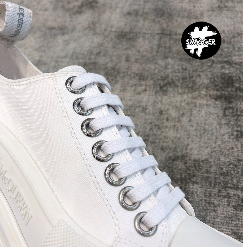 Giày Alexander Mcqueen Chunky Sole Low White Like Auth 7