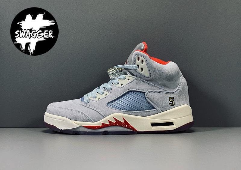 Giày Nike Air Jordan 5 Retro Trophy Room Ice Blue Pk God Factory 2