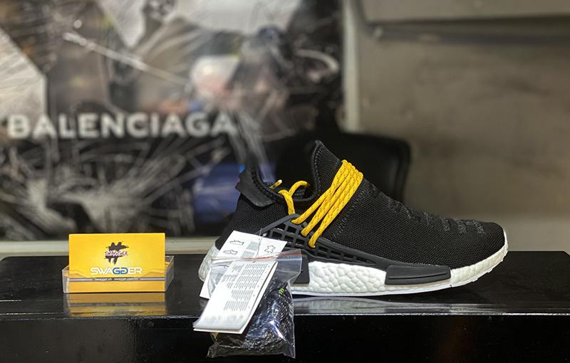 Giày Adidas NMD Human Race Black Replica 1:1 sử dụng boost ép cao cấp, full box và phụ kiện