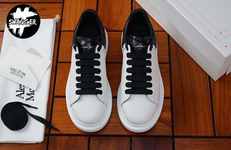 Giày Alexander Mcqueen Gót Đen Da Rắn Like Auth chuẩn 99.9% so với chính hãng full box và phụ kiện