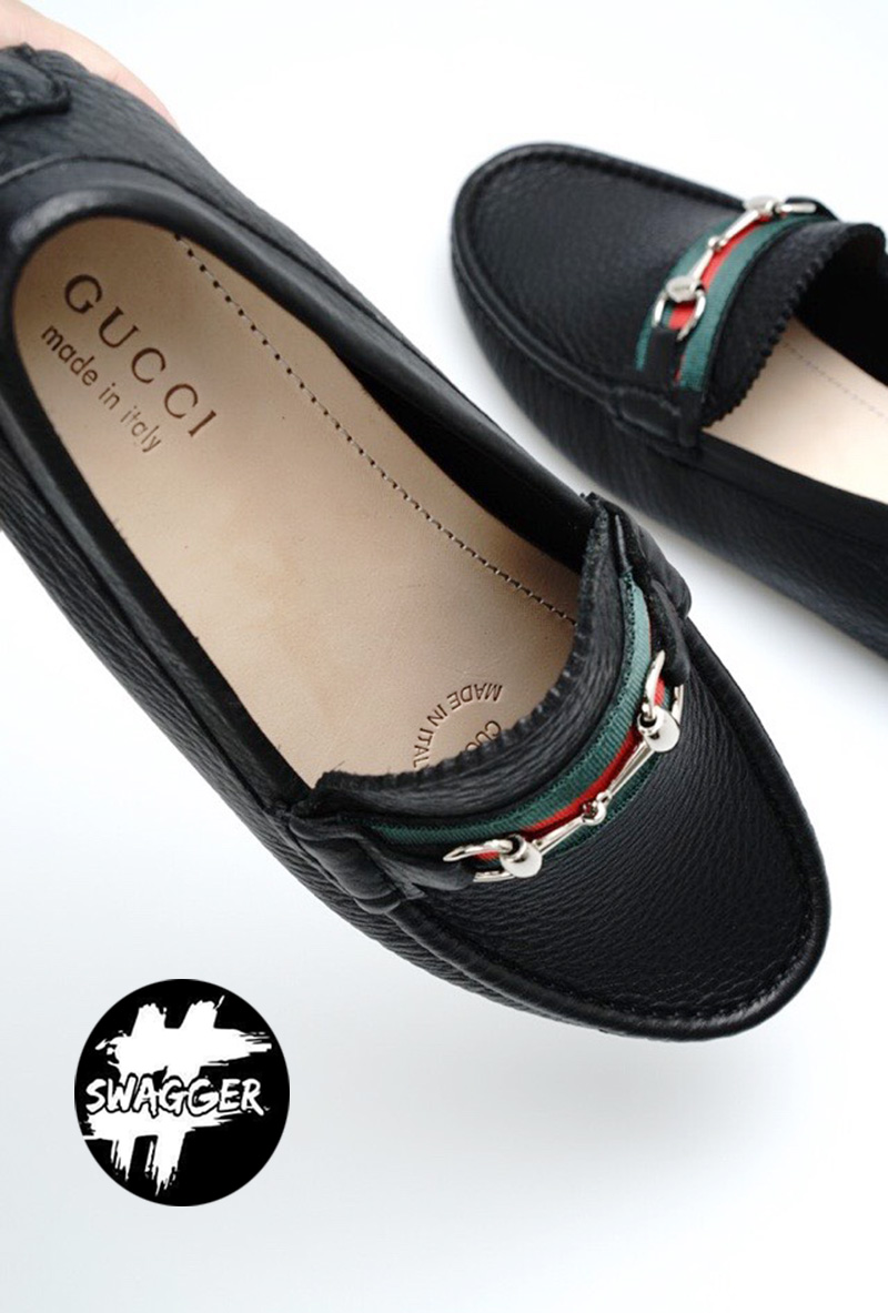 Giày Lười Gucci Nam Sọc Đỏ Like Auth chuẩn 99.9% so với chính hãng, full box và phụ kiện