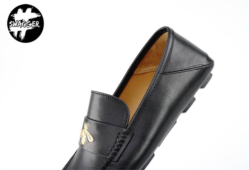 Giày Lười Gucci Nam Thêu Ong Like Auth chuẩn 99.9%