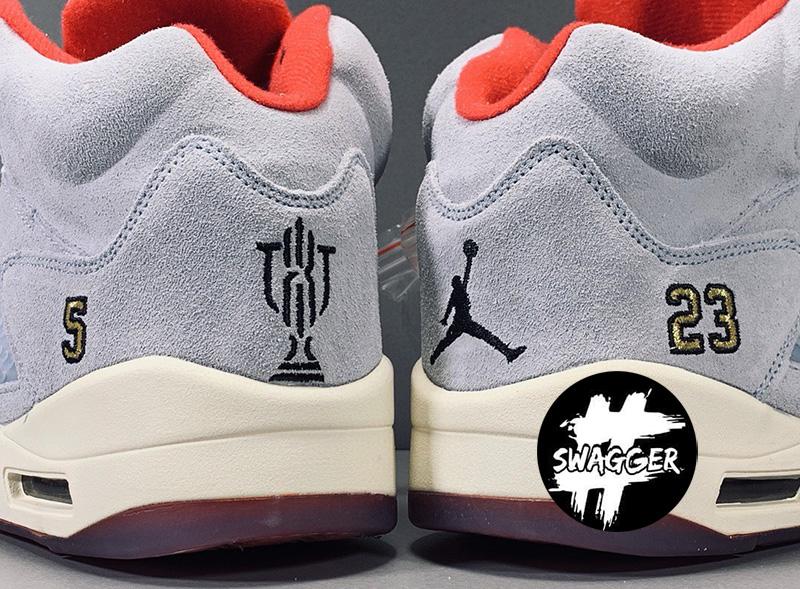 Giày Nike Air Jordan 5 Retro Trophy Room Ice Blue Pk God Factory 4