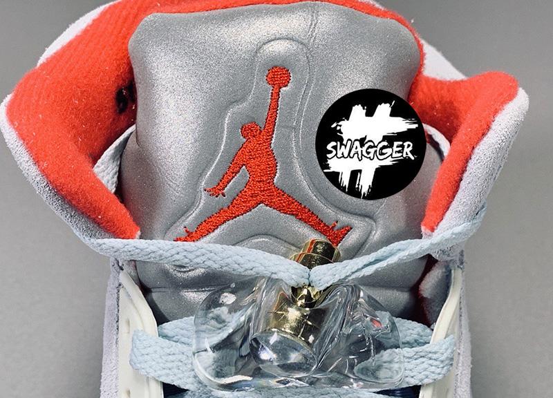 Giày Nike Air Jordan 5 Retro Trophy Room Ice Blue Pk God Factory 6