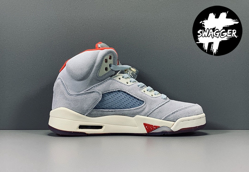 Giày Nike Air Jordan 5 Retro Trophy Room Ice Blue Pk God Factory 1