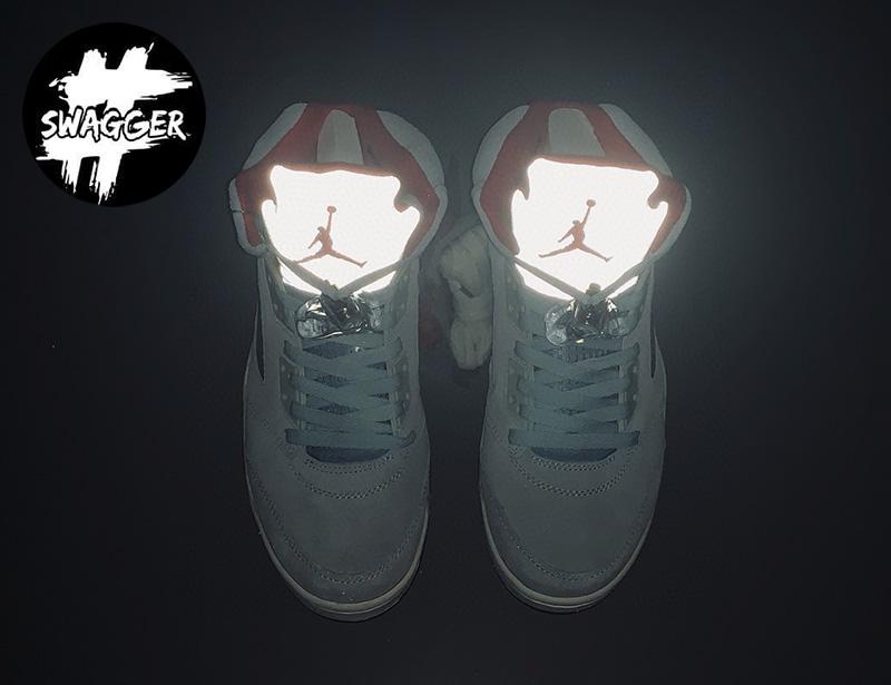 Giày Nike Air Jordan 5 Retro Trophy Room Ice Blue Pk God Factory 17