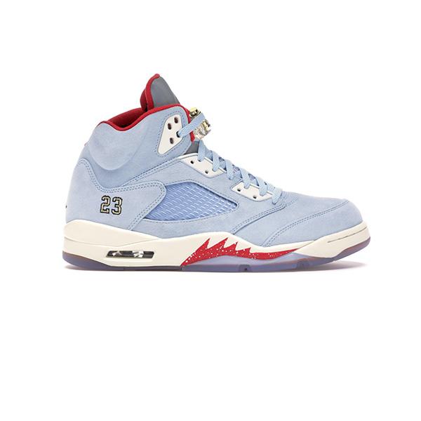 Giày Nike Air Jordan 5 Retro Trophy Room Ice Blue Pk God Factory