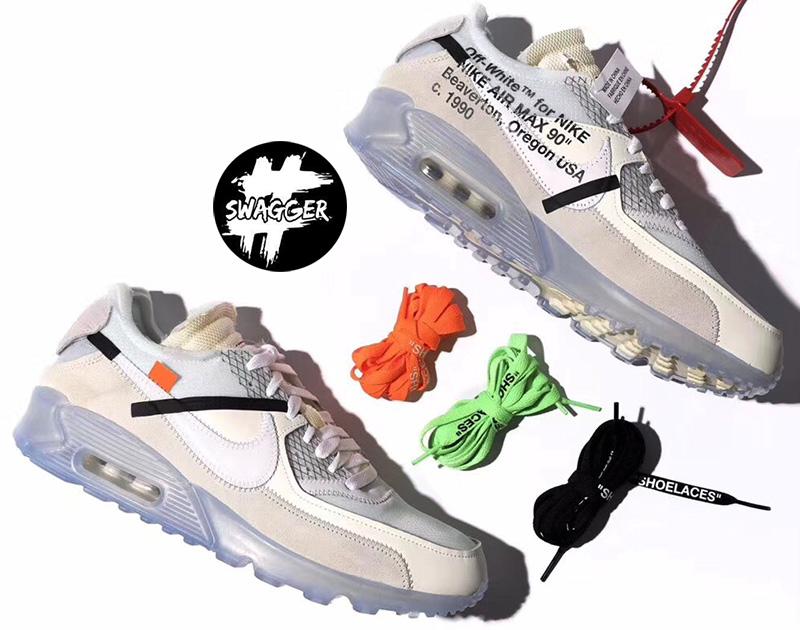 Giày Nike Air Max 90 Off White Pk God Factory full box phụ kiện chuẩn 99.9% so với chính hãng