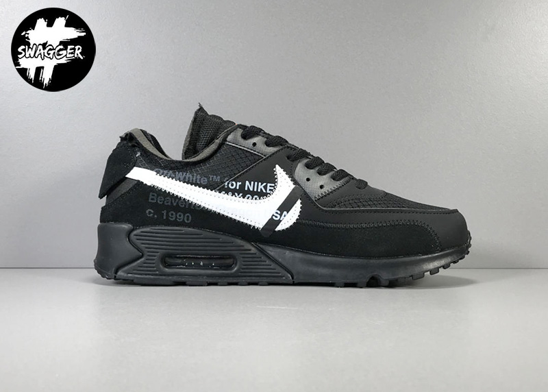 Giày Nike Air Max 90 Off White Black Pk God Factory 2