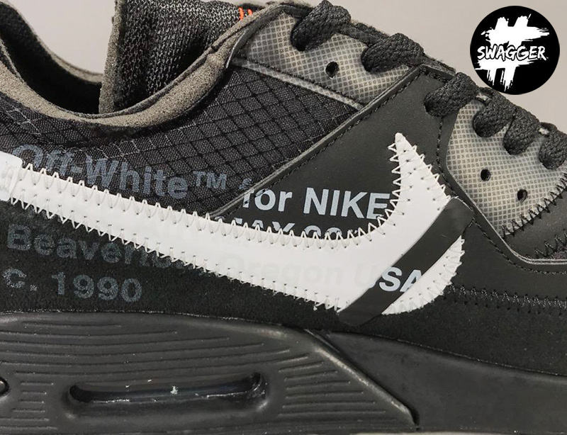 Giày Nike Air Max 90 Off White Black Pk God Factory 8