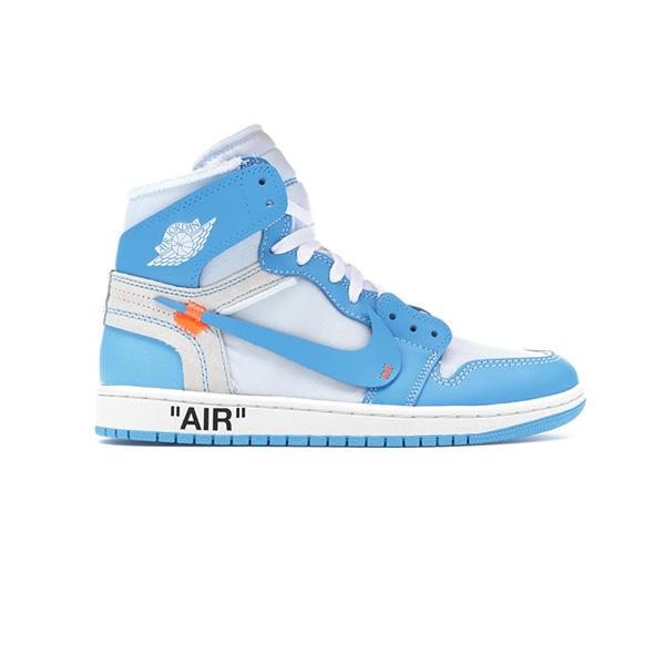 Giày Nike Jordan 1 Off White Blue Pk God Factory