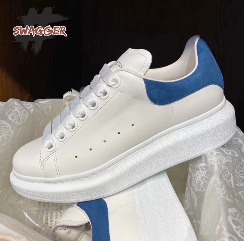 giày alexander mcqueen gót xanh like real, đây là một trong những chất lượng hàng đầu được xem là tương đương với chính hãng và tiết kiệm được rất nhiều khi bạn mua đôi này, chỉ cần 3.500.000 bạn có ngay đôi giày chuẩn 99.9%