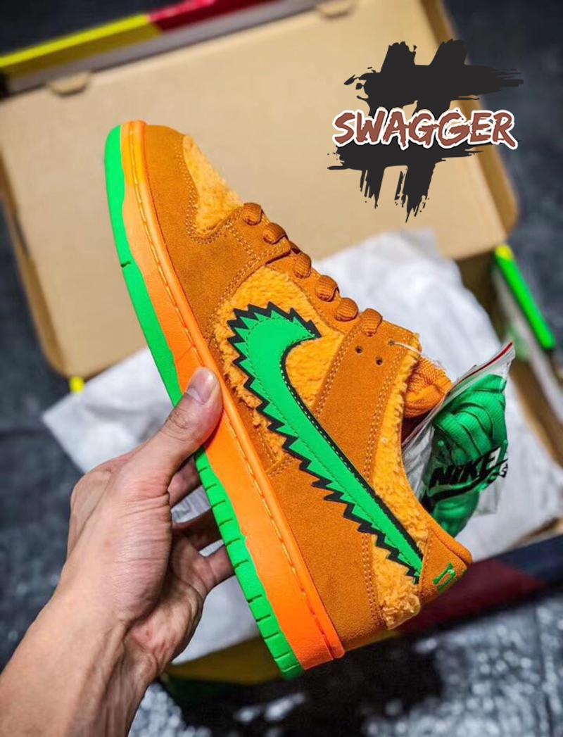 Nike SB Dunk Low Grateful Dead Bears Orange pk god factory sử dụng chất liệu chính hãng chuẩn 99% giá 3.800.000 vnd ship cod toàn quốc