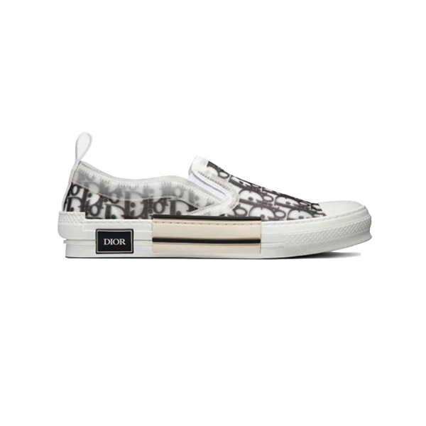 Giày Dior B23 Slip-On Sseaker Oblique Canvas Black and White Like Authentic
