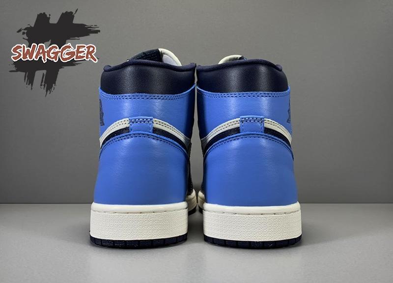 Giày Nike Air Jordan 1 Retro high Obsidian UNC Pk God Factory sử dụng chất liệu chính hãng, full box và phụ kiện cam kết chất lượng tốt nhất
