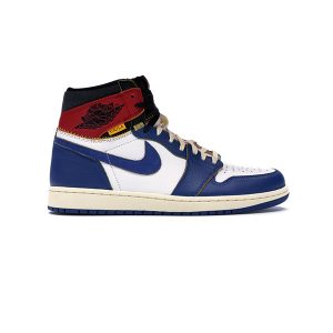 Giày Nike Air Jordan 1 Retro High Union Los Angeles Blue Toe Pk God Factory
