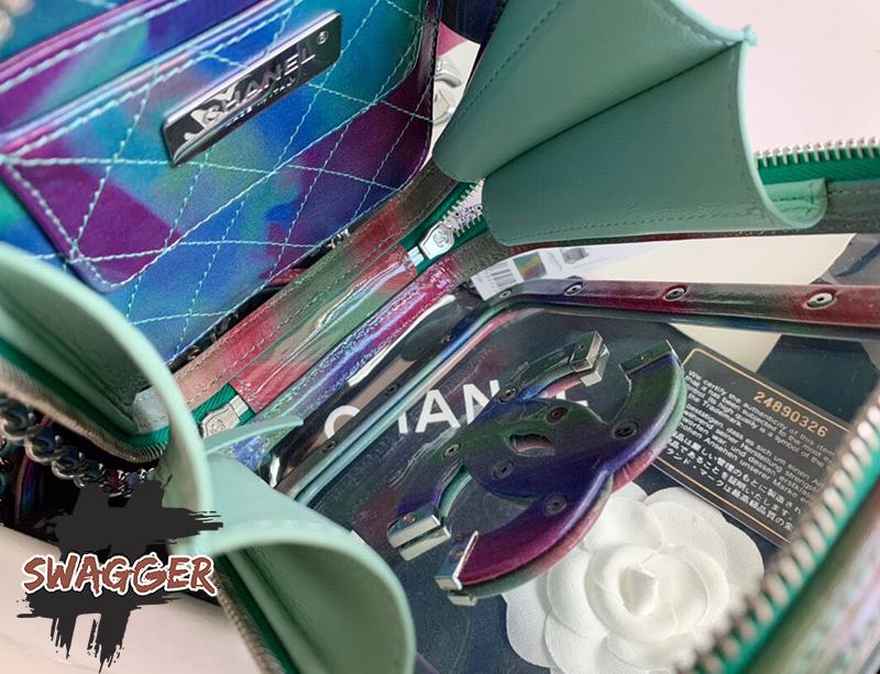 Túi Xách Chanel Vanity Case PVC Like Authentic sử dụng chất liệu chính hãng, full box và phụ kiện , chuẩn 99%