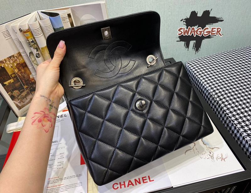Túi Xách Chanel Small Flap Bag With Top Handle Like Authentic, sử dụng chất liệu chính hãng, chuẩn 99%
