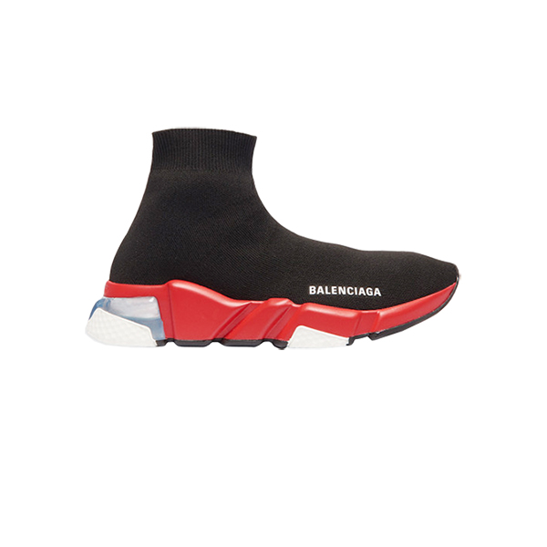 Giày Balenciaga Speed Trainers Clear Sole Black Red Plus Factory