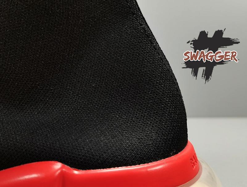 Giày Balenciaga Speed Trainers Clear Sole Black Red Plus Factory chuẩn % full box và phụ kiện cam kết chất lượng tốt nhất hiện nay