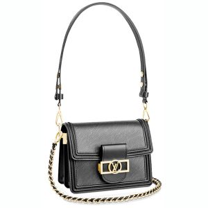 Túi Louis Vuitton Mini Dauphine Epi Leather Black Like Authentic