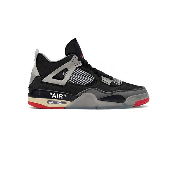 Giày Nike Air Jordan 4 Off White Bred Pk God Factory