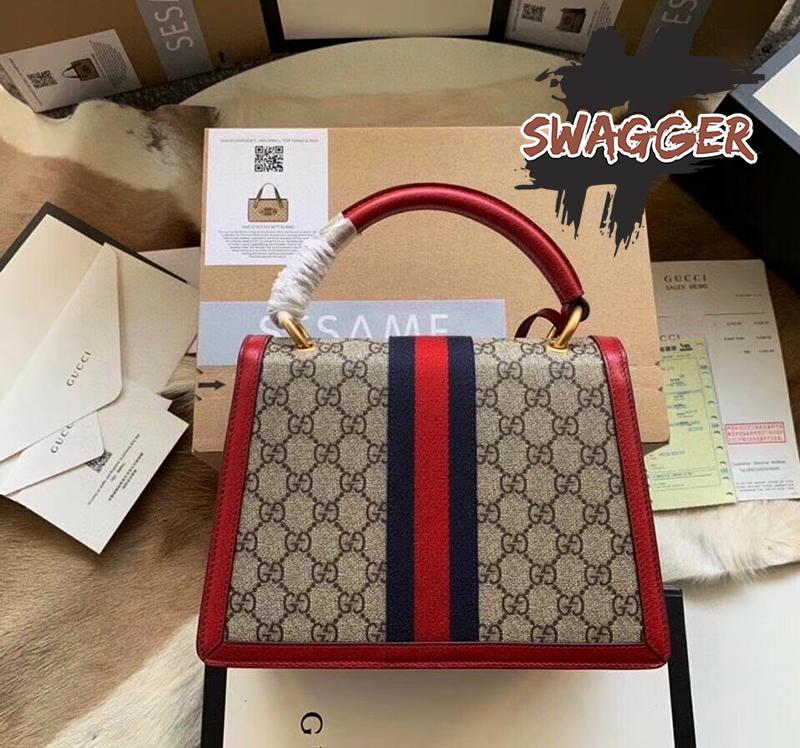 Túi Xách Gucci Queen Margaret GG Top Handle Satchel Like Authentic, sử dụng chất liệu chính hãng, chuẩn 99%