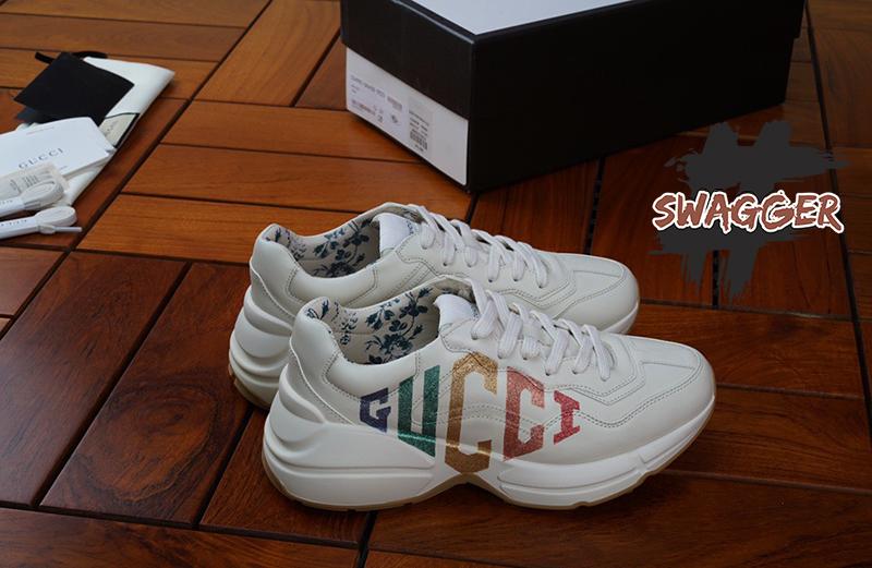 Giày Gucci Rhyton Glitter Gucci Leather Sneaker Like Authentic sử dụng chất liệu chính hãng chuẩn 99%