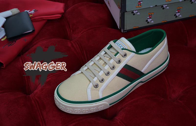 Giày Gucci Tennis 1977 Butter Cotton Like Authentic, sử dụng chất liệu chính hãng, full box và phụ kiện chuẩn 99%