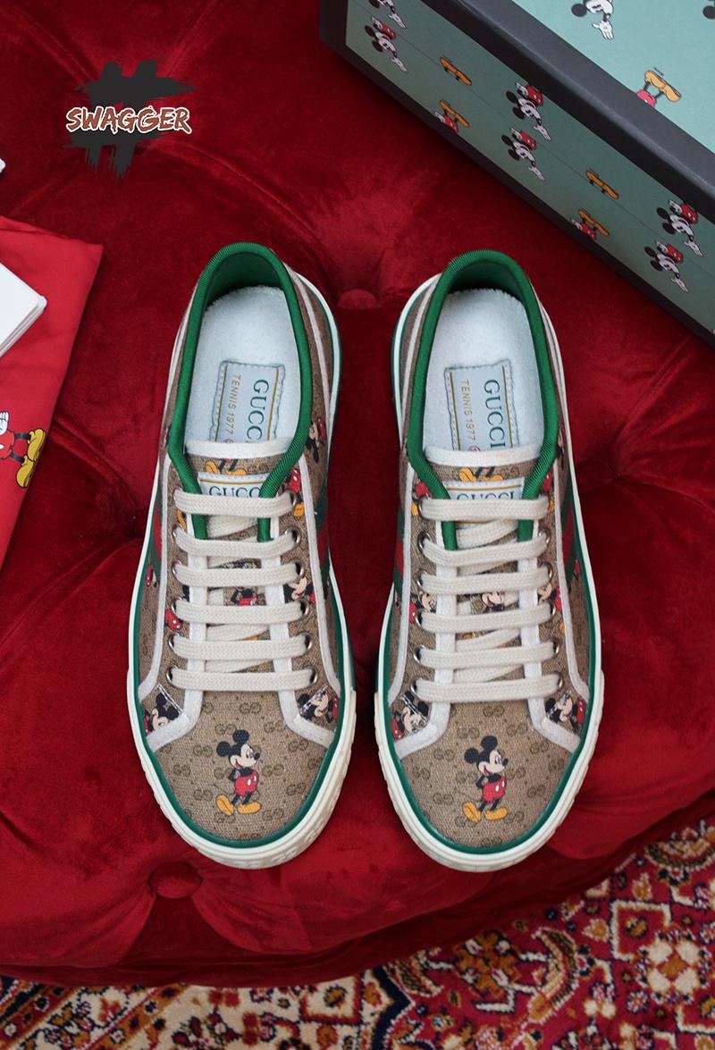 Giày Gucci Tennis 1977 x Disney Like Authentic sử dụng chất liệu chính hãng chuẩn 99%