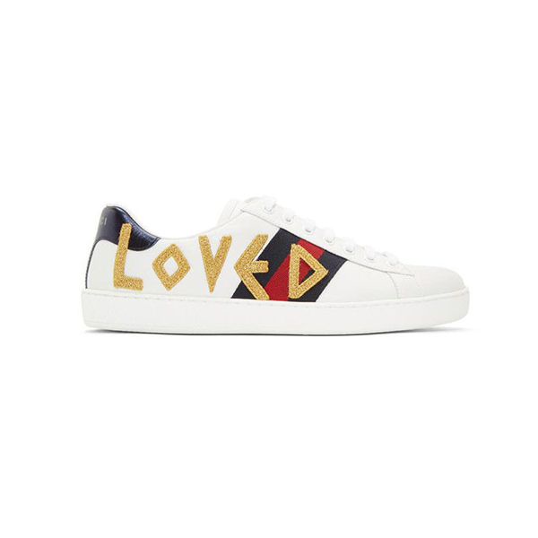 Giày Gucci White Ace Loved Like Authentic