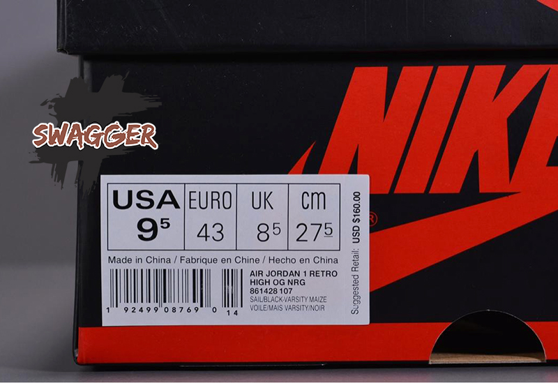 Nike Air Jordan 1 Retro High Not For Resale Varsity Maize Yellow sử dụng chất liệu chính hãng chuẩn 99%