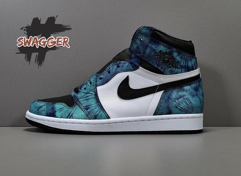 Giày Nike Air Jordan 1 Retro High Tie Dye Pk God Factory sử dụng chất liệu chính hãng chuẩn 99%