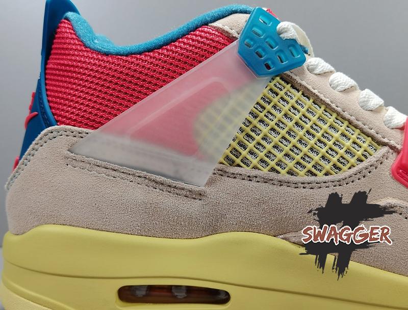 Giày Nike air Jordan 4 Retro Union Guava Ice Pk God Factory sử dụng chất liệu chính hãng chuẩn 99%