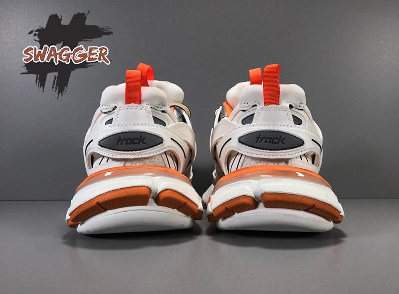 Balenciaga Track 3.0 White Orange sử dụng chất liệu chính hãng chuẩn 99%