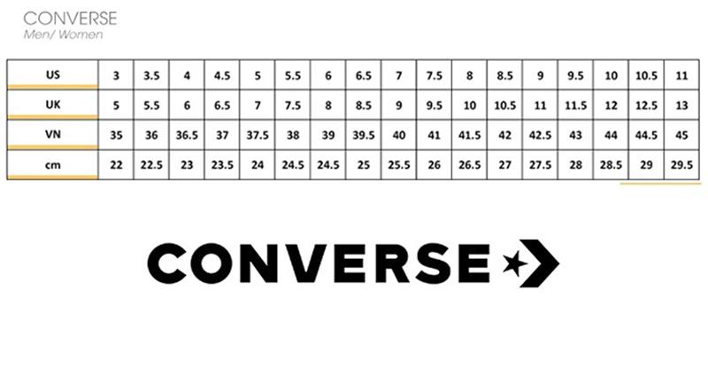 cách chọn size giày converse và giày vans chuẩn